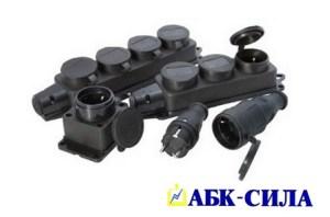 Штепсельные соединители каучуковые IP-44