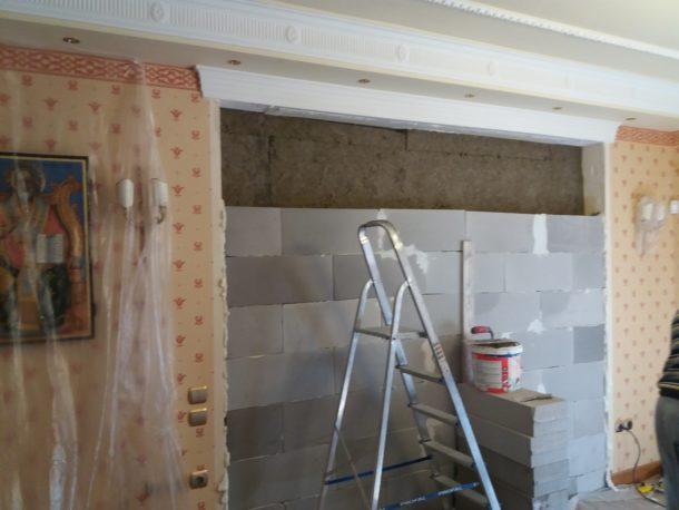 Χτίσιμο τοίχου ytong με πετροβάμβακα ηχομόνωση