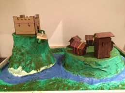 Adding the village and castle