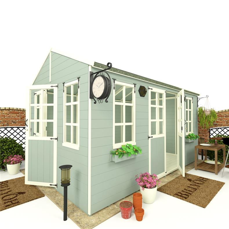 Corner summerhouse garden office