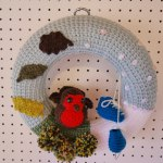 Autumn Winter crochet wreath