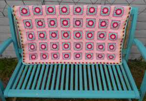 The Lydia Blanket – she's finished!