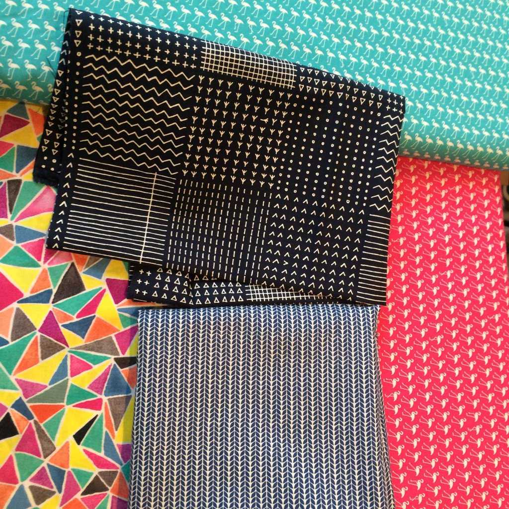 Fabric choices in the Village Haberdashery