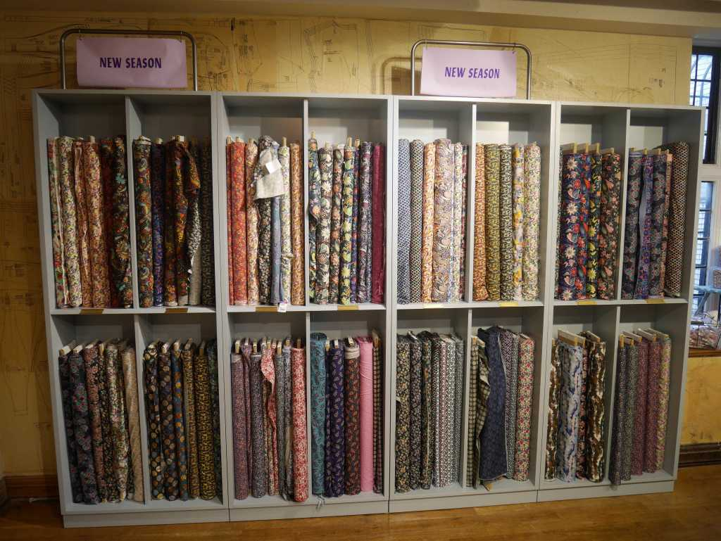 Liberty London fabric shop