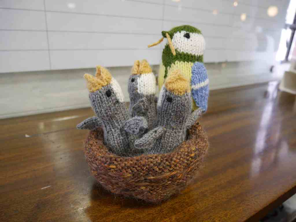 Knitted nest of birds at Unravel 2017