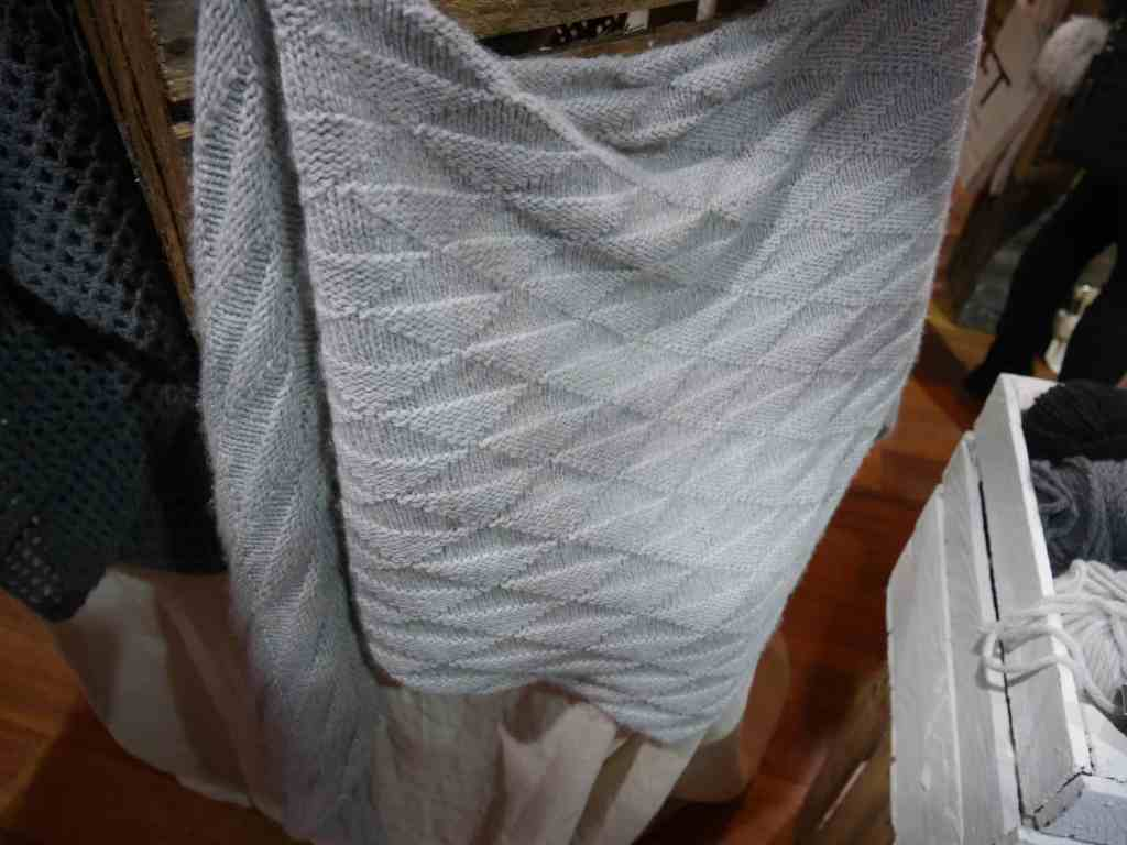 Triangle shawl at Toft, Unravel 2017