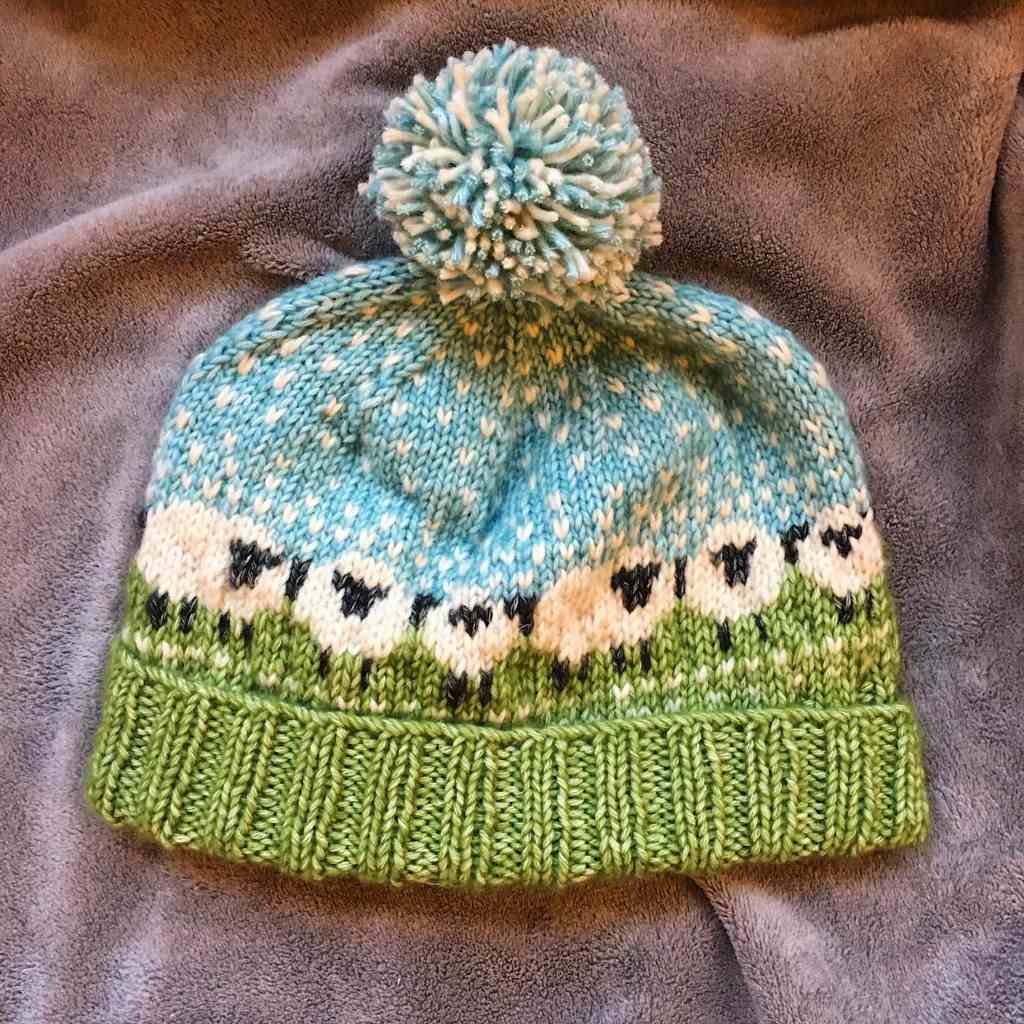 Baable hat worked with Scheepjes Stonewashed XL