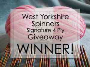 WYS Signature 4 Ply Giveaway – we have a winner!