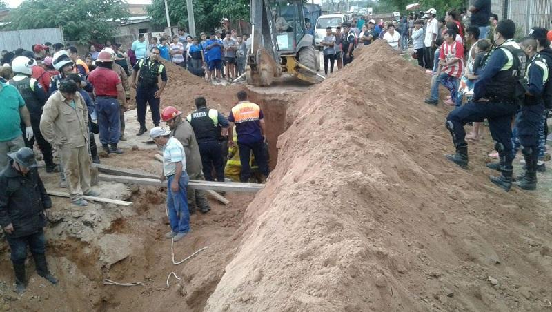 Tragico derrumbe en Las Talitas: dos obreros quedaron sepultados y murieron