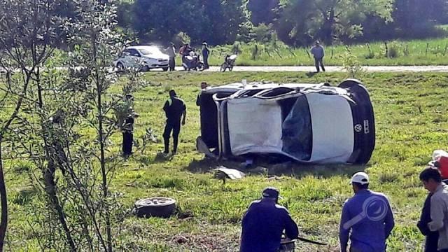 En la Ruta 38, se adelantó: Chocó de frente contra un camión, volcó y murió