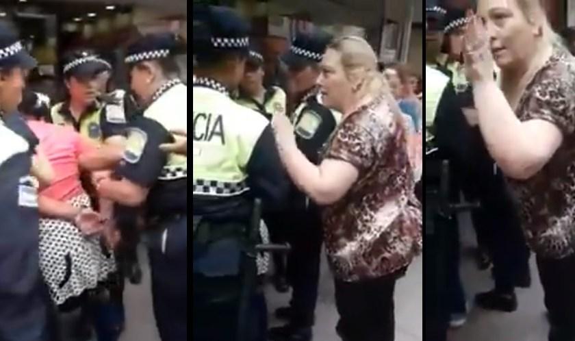 """Tensión en el microcentro: fue detenida por robar y apareció """"la abogada sacapresos"""""""