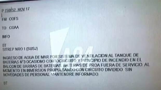 La Armada sabe y entrega la información por cuentagotas: El último mensaje del submarino ARA San Juan antes de perder contacto
