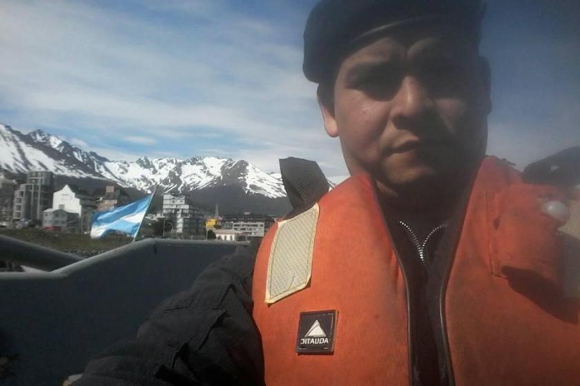 Está es la última foto que publicó el marino tucumano a bordo del submarino ARA San Juan