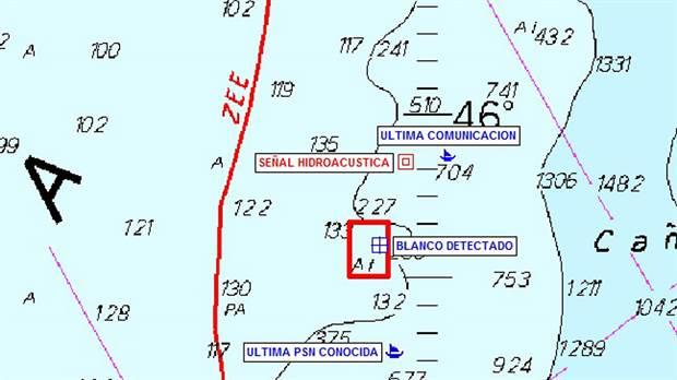 """Submarino ARA San Juan: intentan determinar hoy si corresponde al submarino un """"contacto"""" a 477 metros"""