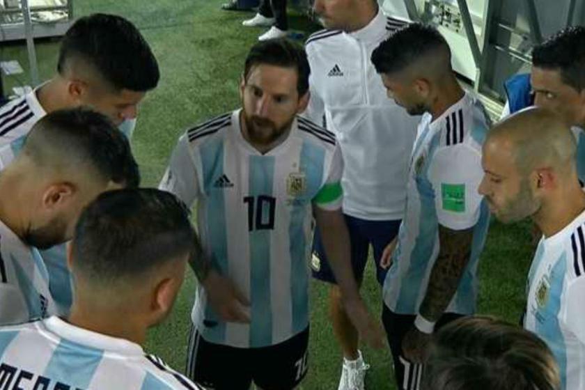 El liderazgo de Messi para que Marcos Rojo terminara el partido como delantero
