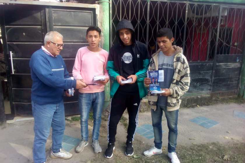 El Candidato de Fuerza Republicana Horacio Vermal cerro su campaña en los barrios mas carenciados de la ciudad