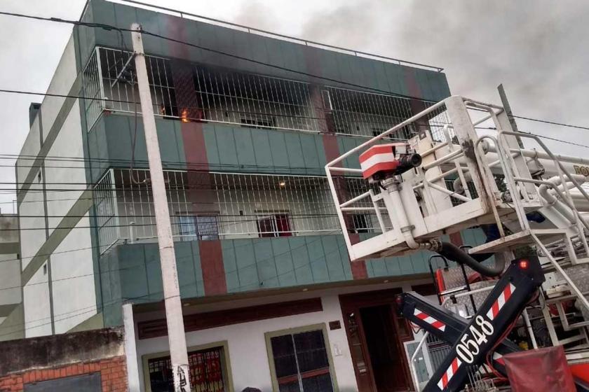 TUCUMAN: La energia volvió de golpe y se incendió un departamento(VIDEO)