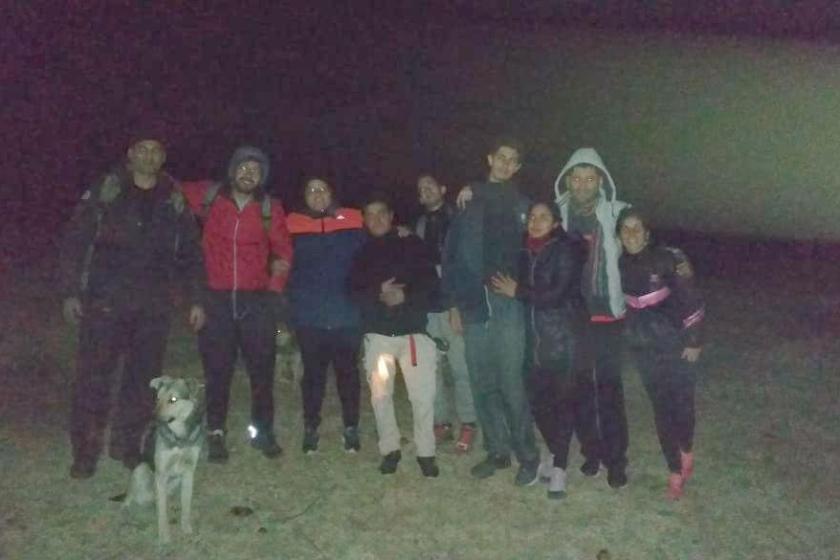 La policia rescato a un montañista deshidratado en la cima del cerro Ñuñorco