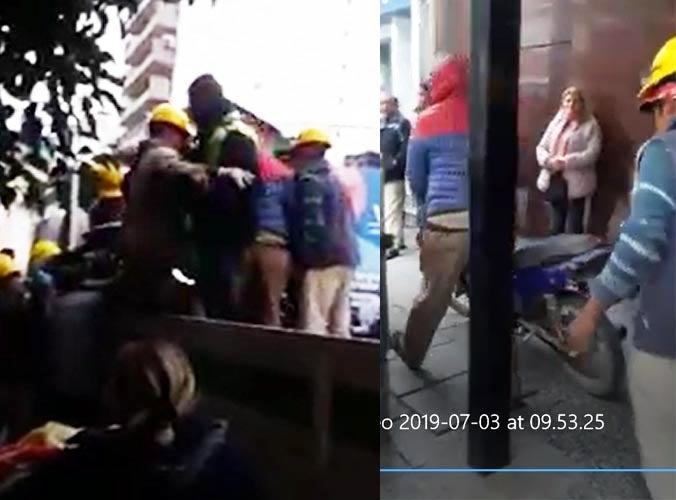 (VIDEO) Transeúntes increparon a agentes municipales y policias y lograron recuperar una moto secuestrada