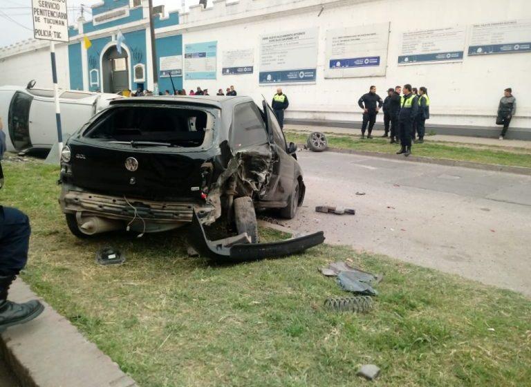 Multiple choque frente a la cárcel de Villa Urquiza
