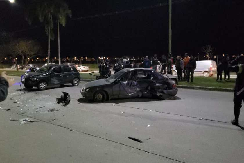 Accidente en avenida Presidente Perón