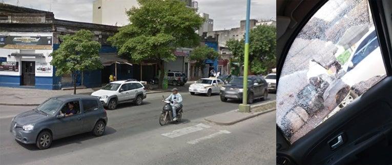 Rompevidrios atacan en la avenida Roca
