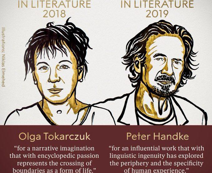 NOBEL DE LITERATURA: Los ganadores fueron la polaca Olga Tokarczuk y el austríaco Peter Handke