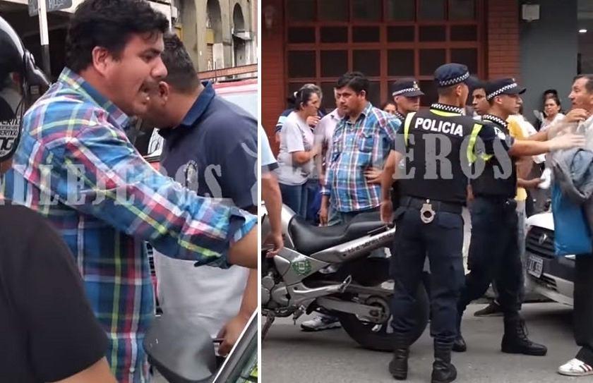""""""" Una ciudad caótica que se resiste al orden """" : inspectores municipales y un taxista protagonizaron un escándalo en El Bajo"""