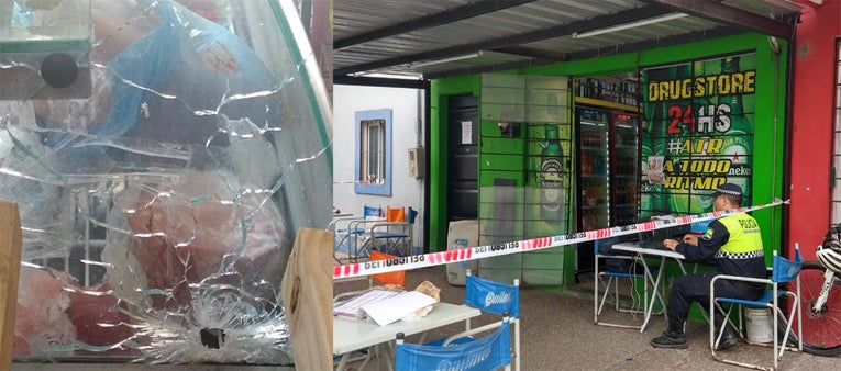""" Incontrolable ola delictiva en Tucuman"" : Dos policías enfrentaron a los tiros a cuatro delincuentes que asaltaban un drugstore en el Barrio América"