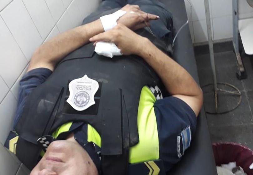 Policia herido al ser atacado por delincuentes en el sur de la provincia