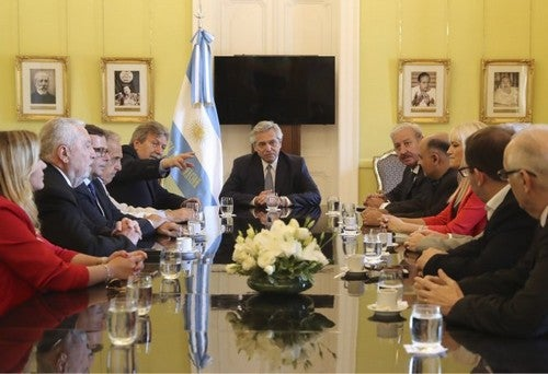 El presidente Fernández sumó a evangélicos al programa Argentina contra el Hambre