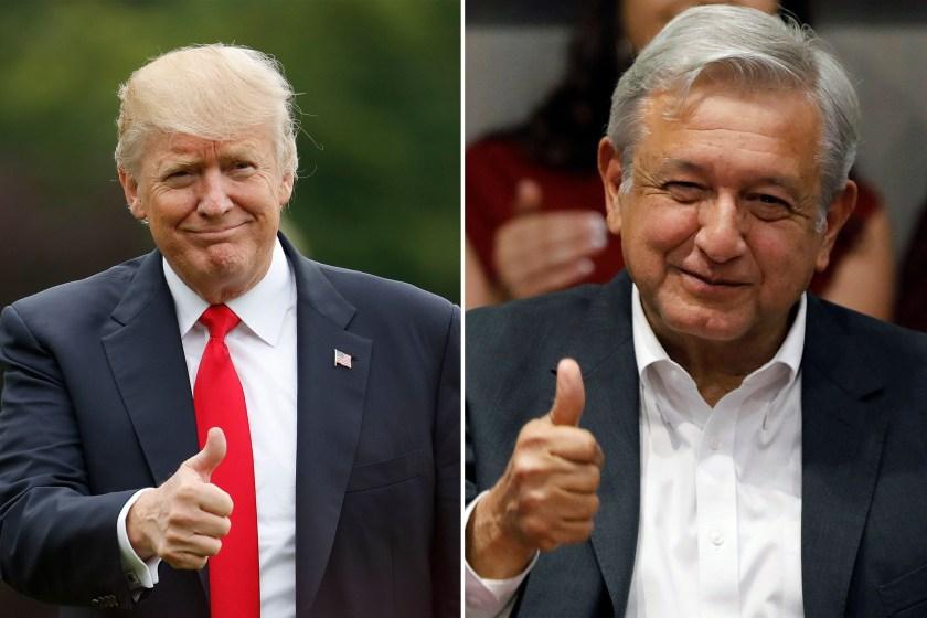 """"""" Soberania de Mexico"""" : A pedido de Lopez Obrador, Trump pausa la designación de narcos como terroristas"""