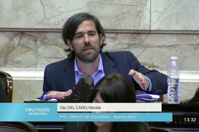 """Diputado, Del Caño: """"Esta ley de ajuste a los jubilados la necesitan para negociar con el FMI"""""""