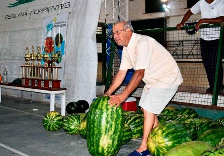 Una megasandía de casi 45 kilos fue premiada en Corrientes