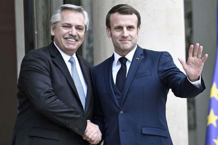 """Respaldo de Macron a  Fernández: """"Francia se movilizará con el FMI para ayudar a la Argentina"""""""
