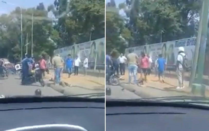 Un ladrón fue atrapado por vecinos enfurecidos que lo lincharon y lo mandaron  al Padilla (VIDEO)