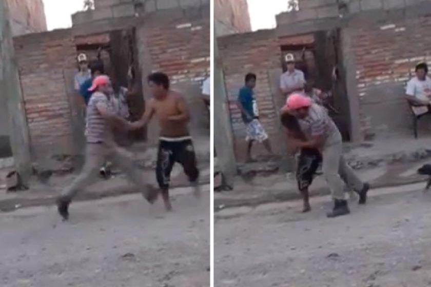 Harto, un vecino tucumano fue a buscar a un delincuente en su casa y le dio una brutal paliza(VIDEO)