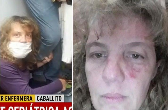 CORONAVIRUS: Una enfermera volvió a su casa y un vecino la molió a golpes y la roció con desinfectante (VIDEO)