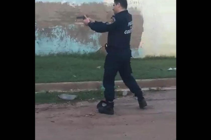 """""""Tirale, matalo al hijo de puta"""", la policia de Cordoba tira con balas de plomo a los que evaden la CUARENTENA"""