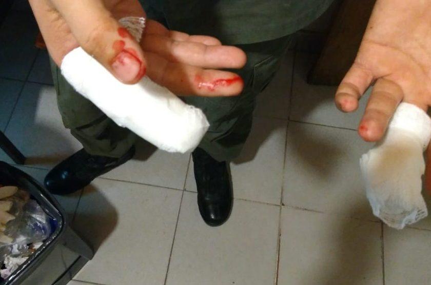 Gendarme impidió el robo en una farmacia y fue herido, ocurrio en El Colmenar