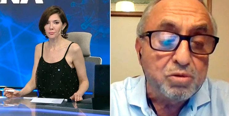 "La periodista MACRISTA Cristina Pérez ataco al  eminente epidemologo Dr. Cahn: ""Si no se mueren de coronavirus se van a morir de otra cosa"""