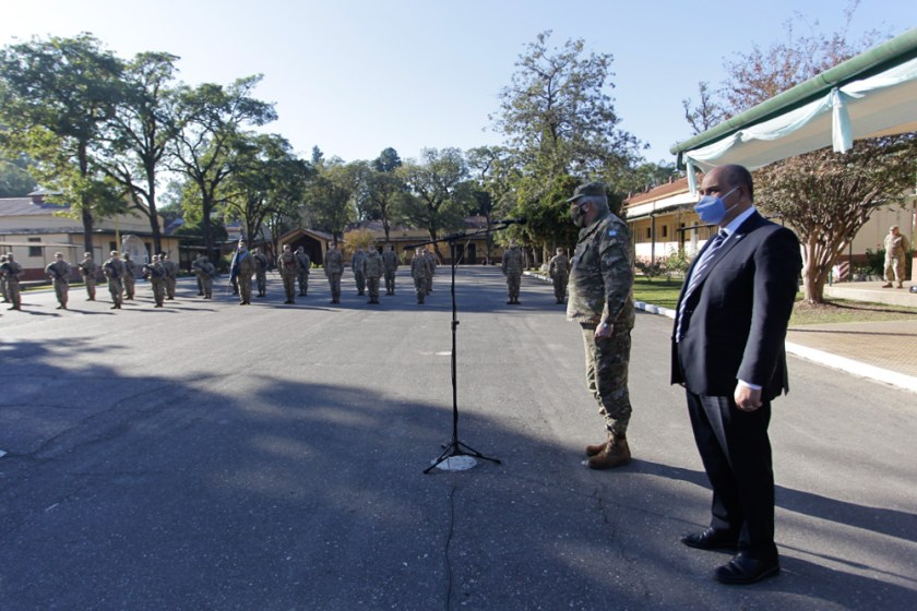 El gobernador Manzur encabezó un nuevo aniversario de la celebración del 25 de Mayo sin público