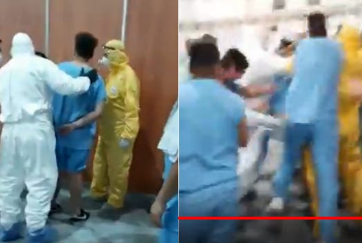 Linchan en el centro de aislamiento de coronavirus a un hombre que se le robó el celular a otro internado (video)