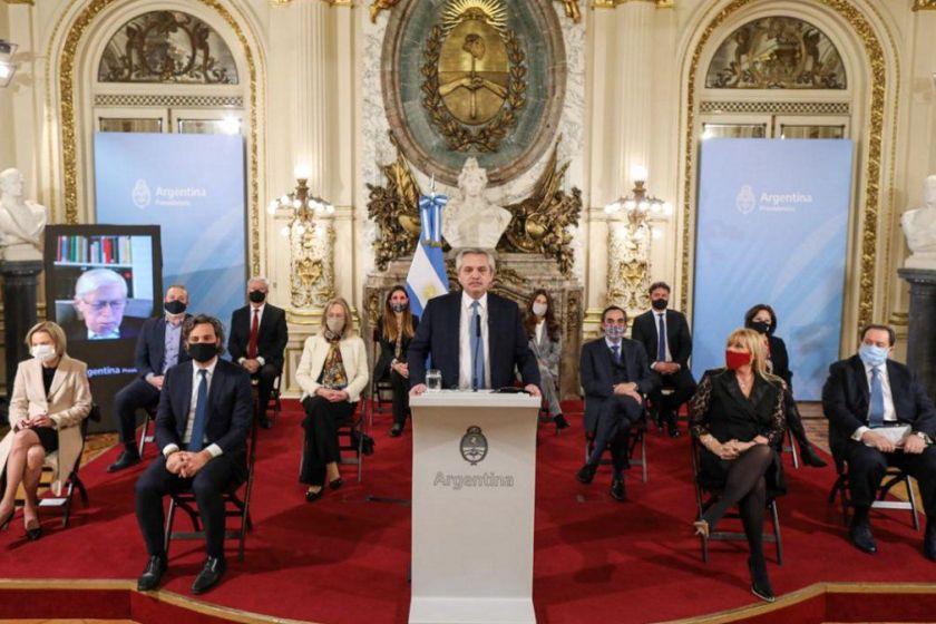 El presidente  Fernández presentó la reforma judicial en Casa Rosada