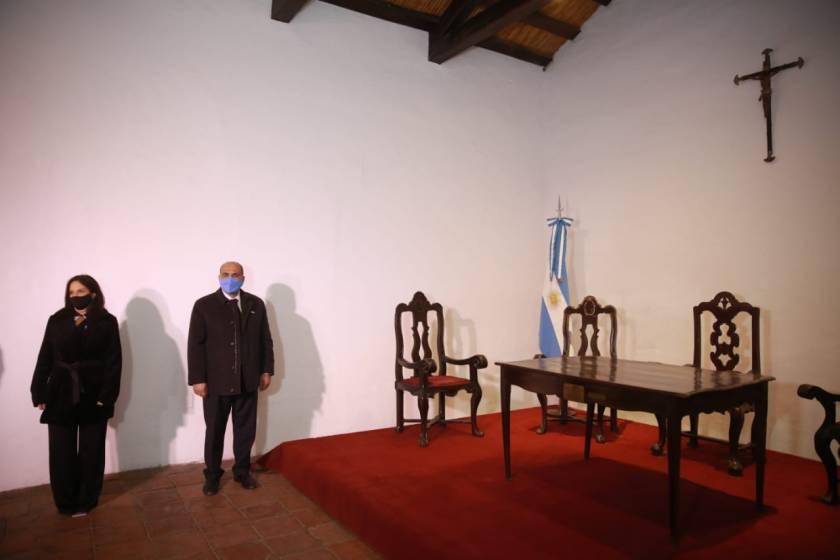 El gobernador Juan Manzur recibió el nuevo aniversario de la Independencia en Casa Histórica