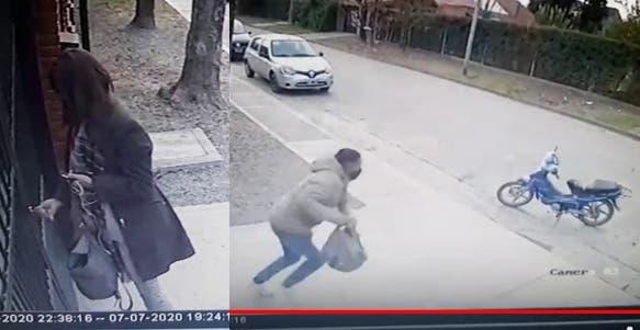 Motochorro le roba a una mujer en Yerba Buena (VIDEO)