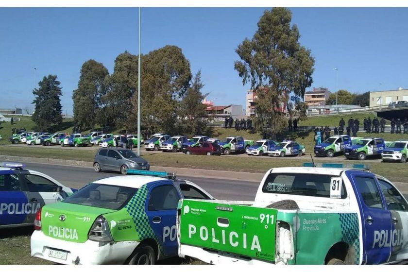 Aun logrando el aumento salarial,  la Policía Bonaerense continua con su reclamo