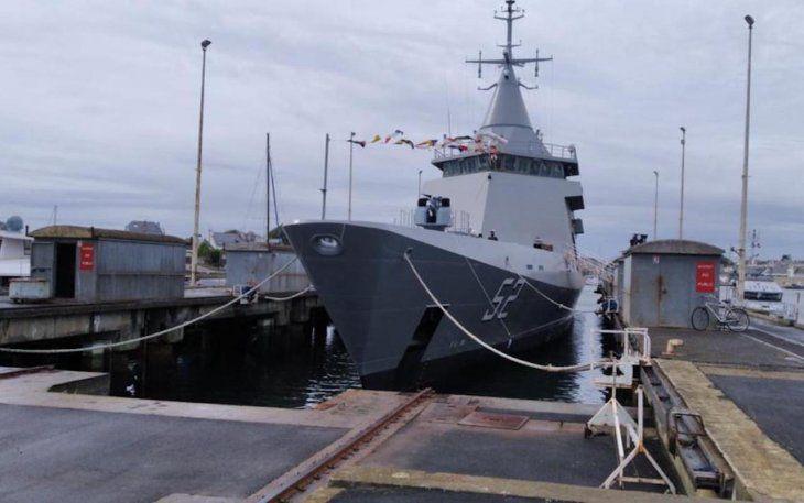 DEFENSA: Botaron el primer patrullero oceánico construido en Francia para la Armada Argentina