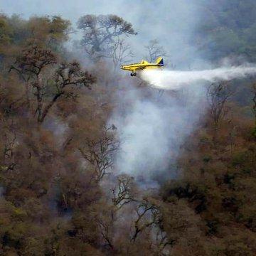 San Javier: Continua el fuego y piden a la ciudadanía que no suba al cerro