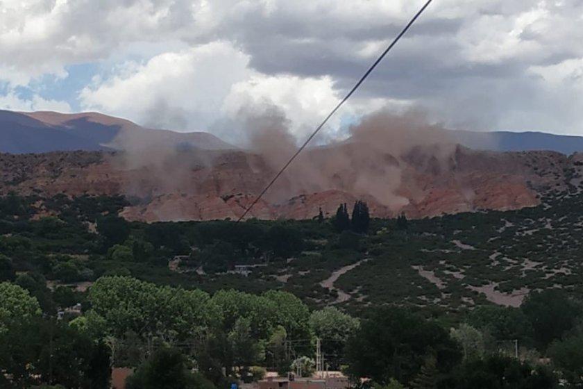 Un temblor de 5.9 se sintió fuerte en Salta y Jujuy: impactantes imágenes de desmoronamientos en los cerros